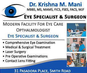 Dr. Krishna Mani, Eye Clinics